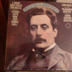 Discos de vinilo: CAJA CON TRES DISCOS Y LIBRETO DE PUCCINI IL TRITTICO 1978. Lote 58724083