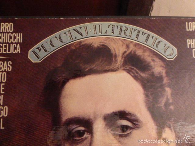 Discos de vinilo: CAJA CON TRES DISCOS Y LIBRETO DE PUCCINI IL TRITTICO 1978 - Foto 2 - 58724083