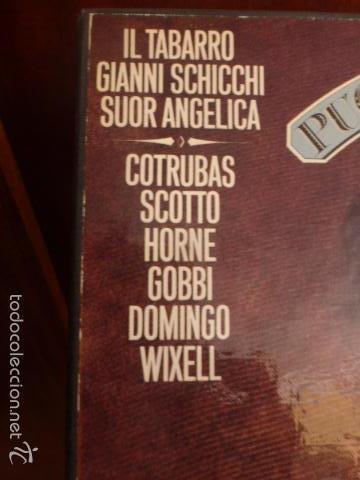 Discos de vinilo: CAJA CON TRES DISCOS Y LIBRETO DE PUCCINI IL TRITTICO 1978 - Foto 5 - 58724083