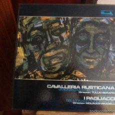 Discos de vinilo: CAJA CON 3 DISCOS Y LIBRETO. CABALLERIA RUSTICA, PIETRO MASCAGNI INTERPRETADO POR VARIOS ARTISTAS . Lote 58724488