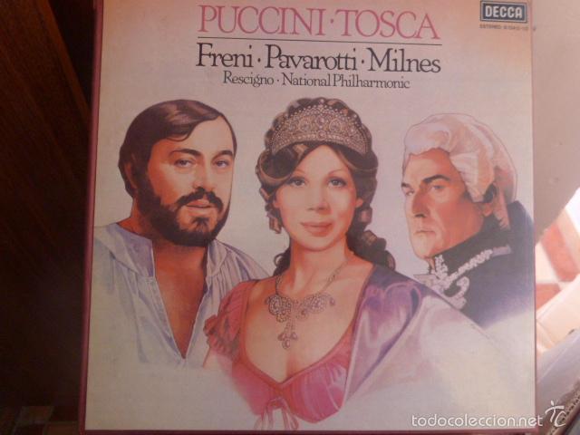 CAJA CON 2 DISCOS Y LIBRETO. PUCCINI - TOSCA (Música - Discos de Vinilo - Maxi Singles - Clásica, Ópera, Zarzuela y Marchas)