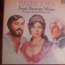 Discos de vinilo: CAJA CON 2 DISCOS Y LIBRETO. PUCCINI - TOSCA . Lote 58726443
