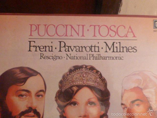 Discos de vinilo: CAJA CON 2 DISCOS Y LIBRETO. PUCCINI - TOSCA - Foto 2 - 58726443
