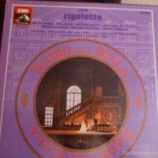 Discos de vinilo: CAJA CON 3 DISCOS Y LIBRETO. RIGOLETTO DE VERDI. Lote 58726601