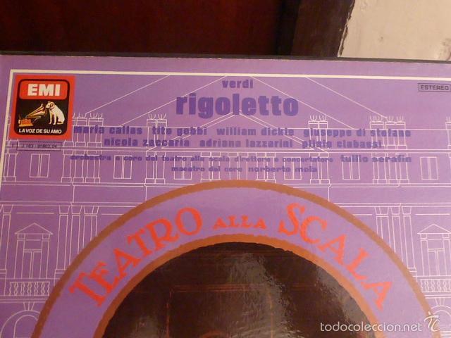 Discos de vinilo: CAJA CON 3 DISCOS Y LIBRETO. RIGOLETTO DE VERDI - Foto 2 - 58726601