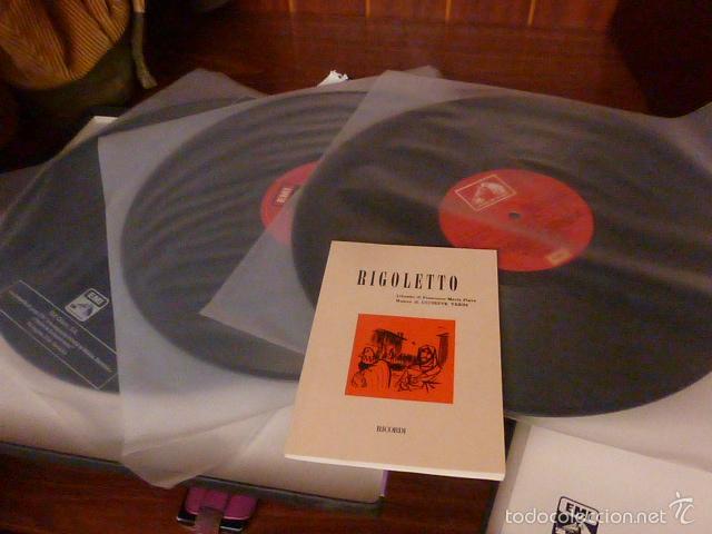 Discos de vinilo: CAJA CON 3 DISCOS Y LIBRETO. RIGOLETTO DE VERDI - Foto 5 - 58726601