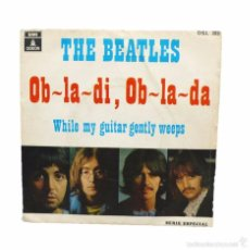 Discos de vinilo: THE BEATLES WHILE MY GUITAR GENTLY WEEPS SINGLE 1.969. Lote 58733003