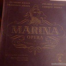 Discos de vinilo: CAJA CON 2 DISCOS Y LIBRETO. MARINA OPERA INTERPRETADA POR VARIOS ARTISTAS. Lote 58740787