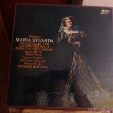 Discos de vinilo: CAJA CON 3 DISCOS MAS LIBRETO. MARIA STUARDA. DIFERENTES ARTISTAS . Lote 58741126