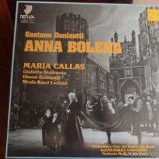 Discos de vinilo: CAJA CON 3 DISCOS Y LIBRETO. GAETANO DONIZETTI, ANNA BOLERA CON MARIA CALLAS Y OTROS ARTISTAS . Lote 58741716