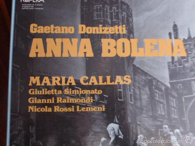 Discos de vinilo: CAJA CON 3 DISCOS Y LIBRETO. GAETANO DONIZETTI, ANNA BOLERA CON MARIA CALLAS Y OTROS ARTISTAS - Foto 2 - 58741716
