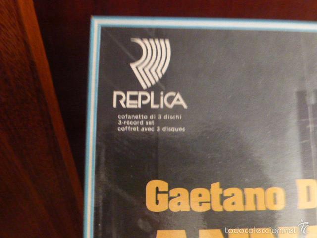 Discos de vinilo: CAJA CON 3 DISCOS Y LIBRETO. GAETANO DONIZETTI, ANNA BOLERA CON MARIA CALLAS Y OTROS ARTISTAS - Foto 4 - 58741716