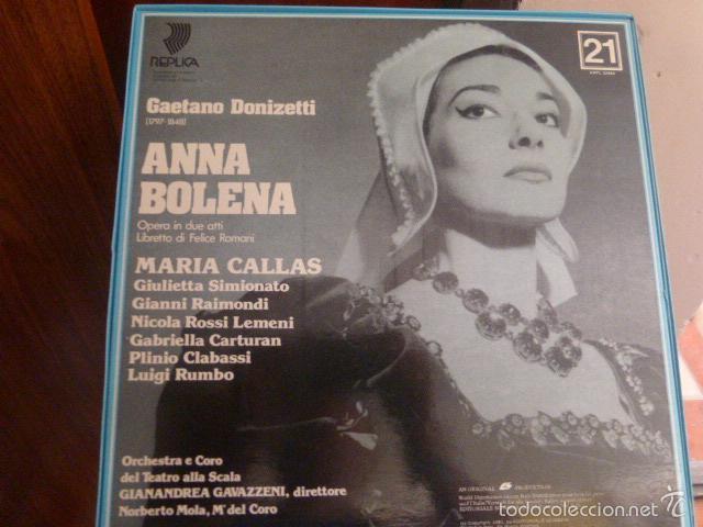Discos de vinilo: CAJA CON 3 DISCOS Y LIBRETO. GAETANO DONIZETTI, ANNA BOLERA CON MARIA CALLAS Y OTROS ARTISTAS - Foto 5 - 58741716