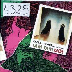 Disques de vinyle: TAM TAM GO! / CAER A TUS PIES (SINGLE 1993). Lote 58751363