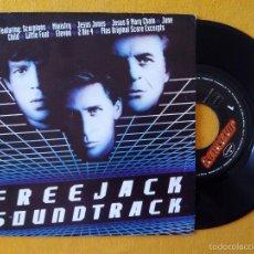 Disques de vinyle: SCORPIONS, HIT BETWEEN THE EYES (POLYGRAM) SINGLE PROMOCIONAL ESPAÑA - FREEJACK BSO. Lote 58772231