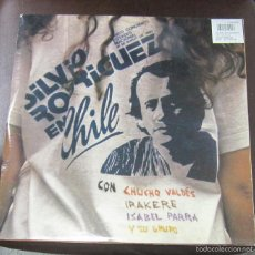 Discos de vinilo: LP TRIPLE. SILVIO RODRIGUEZ EN CHILE CON CHUCHO VALDES, IRAKERE, ISABEL PARRA Y SU GRUPO. 1990. Lote 181452970