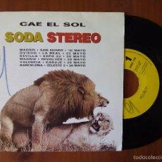 Discos de vinilo: SODA STEREO, CAE EL SOL (CBS) SINGLE PROMOCIONAL 1 CARA ESPAÑA - GUSTAVO CERATI. Lote 58779121