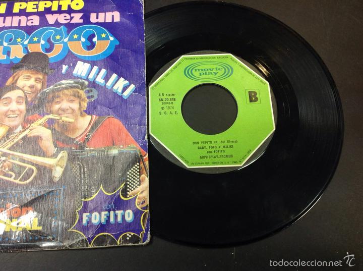 Discos de vinilo: Gaby fofo y miliki- don pepito había una vez un circo - Foto 2 - 58817501
