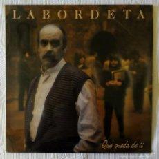 Disques de vinyle: LABORDETA, QUE QUEDA DE TI (FONOMUSIC) LP - ENCARTE - SERRAT LA TRINCA MANEL CAMP. Lote 58826546