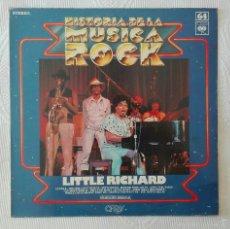 Discos de vinilo: LITTLE RICHARD, HISTORIA DE LA MUSICA ROCK 64 (CBS) LP. Lote 58839481
