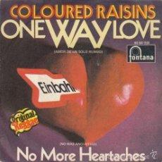 Discos de vinilo: COLOURED RAISINS ONE WAY LOVE ULTR@R@RE TROJAN REGGAE 1970 SPANISH 45 FONTANA. Lote 58873386
