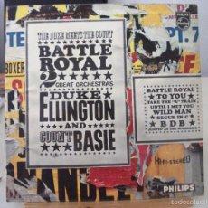 Discos de vinilo: LP DE DUKE ELLINGTON Y COUNT BASIE, BATTLE ROYAL - THE DUKE MEETS THE COUNT (PHILLIPS SBBL 657). Lote 58874536