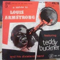 Discos de vinilo: LP DE TEDDY BUCKNER AND HIS DIXIELAND BAND, A SALUTE TO LOUIS ARMSTRONG (EDICIÓN FRANCESA LDM 30081). Lote 58877576