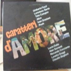 Discos de vinilo: LP CARATTERI D´AMORE, RECOPILATORIO DE ARTISTAS ITALIANOS DE 1981, DOBLE CARPETA, VER FOTOS. Lote 58883676