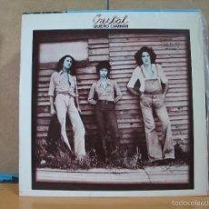 Discos de vinilo: CRISTAL - QUIERO CAMINAR - RCA-VICTOR SPL1-2497 - 1976 - PROMOCIONAL. Lote 58893281