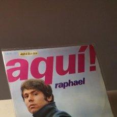 Discos de vinilo: RAPHAEL AQUÍ LP . Lote 58907705