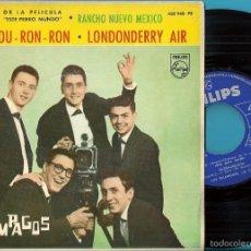 Discos de vinilo: RELÁMPAGOS, LOS: MORE / DA- DOU - RON - RON / LONDONDERRY AIR / RANCHO NUEVO MÉXICO. Lote 58939070