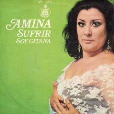Discos de vinilo: AMINA, SG, SUFRIR + 1, AÑO 1974. Lote 58939100