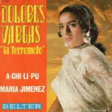Discos de vinilo: DOLORES VARGAS, SG, A-CHI-LI-PU + 1, AÑO 1970. Lote 58939735