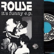 Discos de vinilo: ROUSE: IT´S FUNNY E.P.: IT´S FUNNY / I´M SAD / STAY STRAIGHT / SMELL OF SHIT / WRAPPED IN LIES + 1. Lote 58967280