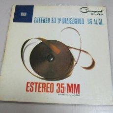 Discos de vinilo: LP. ESTEREO EN 3ª DIMENSION 35 M.M. ESTRERO 35/MM. HISPAVOX, MADRID.. Lote 58977325