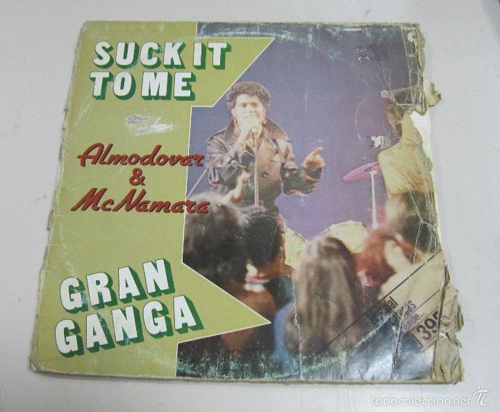 LP. SUCK IT TO ME. ALMODOVAR & MCNAMARA. GRAN GANGA. 1982. DISCOS VICTORIA (Música - Discos de Vinilo - EPs - Grupos Españoles de los 70 y 80)