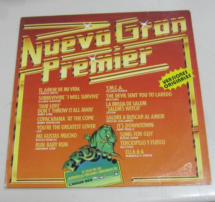 LP. NUEVA GRAN PREMIER. VERSIONES ORIGINALES. FOCO S.A. 1979 (Música - Discos - LP Vinilo - Disco y Dance)