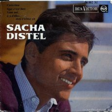 Discos de vinilo: SACHA DISTEL / CATERINA + 3 (EP FRANCES). Lote 59029245