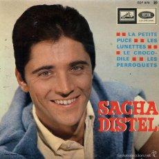 Discos de vinilo: SACHA DISTEL / LA PETITE PUCE + 3 (EP FRANCES). Lote 59029280