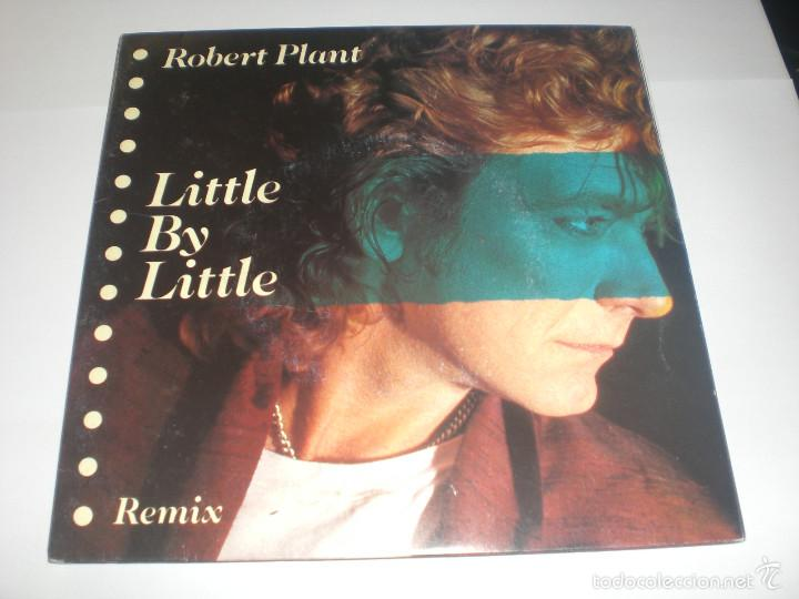 2 SINGLE ROBERT PLANT - LITTLE BY LITTLE - ES PARANZA RECORDS UK 1985 VG+ GATEFOLD (Música - Discos de Vinilo - Singles - Pop - Rock Extranjero de los 80)