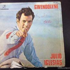 Discos de vinilo: JULIO IGLESIAS- GWENDOLYNE. Lote 59036175