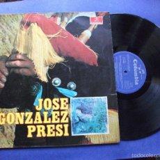Discos de vinilo: LP JOSE GONZÁLEZ PRESI ASTURIAS COLUMBIA ASTURIAS. Lote 59071745