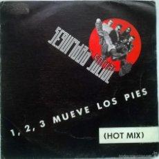 Discos de vinilo: SEGURIDAD SOCIAL. 1,2,3 MUEVE LOS PIES (HOT MIX) A Y B. GRABACIONES ACCIDENTALES, SPAIN 1990 SINGLE. Lote 59092880