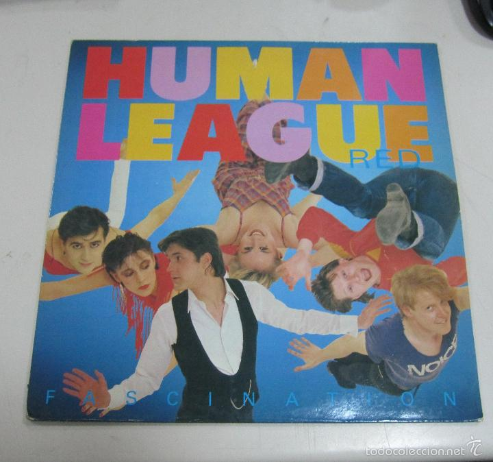 LP. HUMAN LEAGUE RED. FASCINATION. 1983. VIRGIN RECORDS (Música - Discos de Vinilo - Maxi Singles - Disco y Dance)