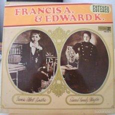 Discos de vinilo: LP DE FRANK SINATRA Y DUKE ELLINGTON, FRANCIS A. SINATRA Y EDWARD K. ELLINGTON (HRES 291-11, 1968). Lote 59158785
