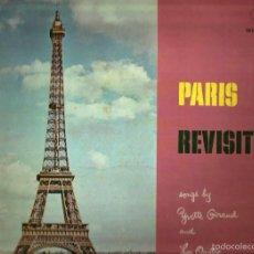 Discos de vinilo: LP YVETTE GIRAUD & LES QUATRE DE PARIS : PARIS REVISITED. Lote 59167365