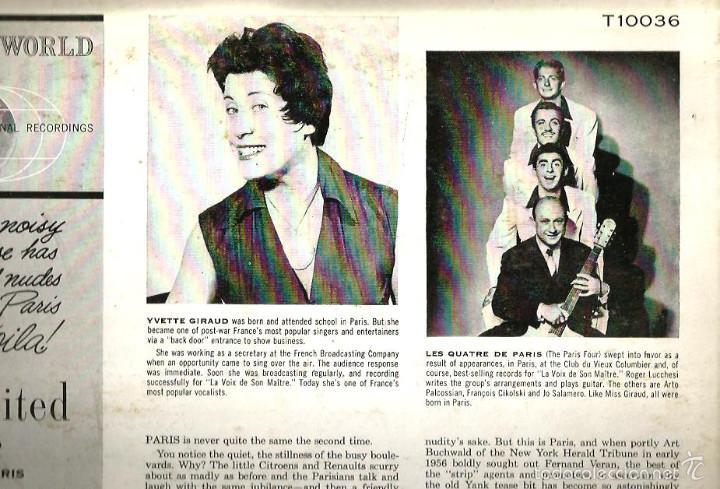 Discos de vinilo: LP YVETTE GIRAUD & LES QUATRE DE PARIS : PARIS REVISITED - Foto 2 - 59167365