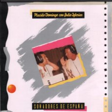 Discos de vinilo: PLACIDO DOMINGO CON JULIO IGLESIAS / SOÑADORES DE ESPAÑA / SEVILLA / LP MAXISINGLE CBS DE 1989. Lote 59189410