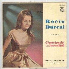 Discos de vinilo: ROCÍO DURCAL. CANCIÓN DE JUVENTUD BANDA DE LA PELÍCULA. EP PHILIPS 1962. Lote 59202835