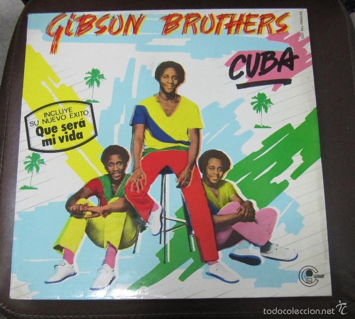 LP. GIBSON BROTHERS. CUBA. DISCOS COLUMBIA. 1979 (Música - Discos - LP Vinilo - Funk, Soul y Black Music)